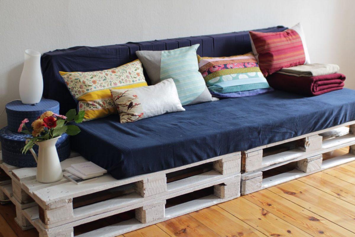 Sofa de Pallets Azul