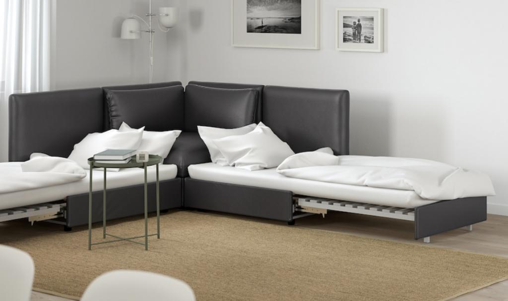 カスタム性に優れたIKEAのヴァレントゥナはインテリアの可能性を広げてくれるおすすめのソファベッドです。