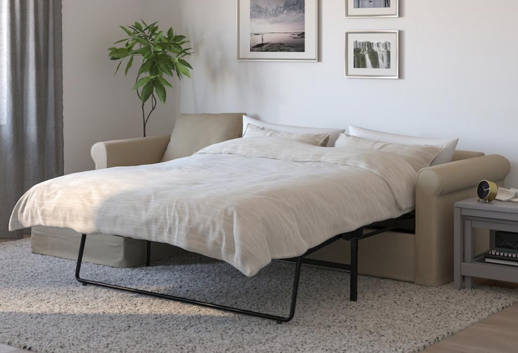 IKEAのグローンリードソファベッドはマットレスに厚みがあり、ベッドにても快適なおすすめのソファベッドです。